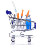 Medications in the cart Stock Image