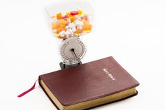 Medications, Health and the Bible Royalty Free Stock Images