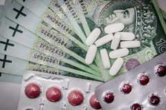 Medications, Money, Cure, Tablets Royalty Free Stock Image