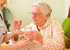 Medications for an old woman Royalty Free Stock Photo