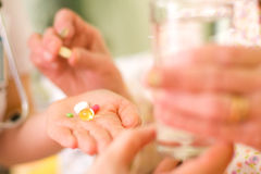 Medications for an old woman Royalty Free Stock Image