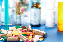 Medications-pills capsules Royalty Free Stock Photos