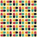 Medications pills and tablets. Geometric Seamless Pattern royalty free stock photo