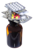 Medications for the treatment of tablets and syrups Royalty Free Stock Images