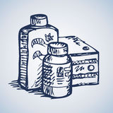 Medications. Vector drawing Stock Images