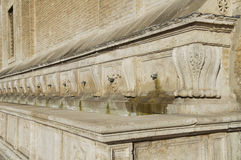 Medicea Fountain. St. Maria degli Angeli. Umbria. Perspective of the Medicea Fountain. St. Maria degli Angeli. Umbria Royalty Free Stock Photo