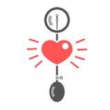 Medición de la presión arterial Imagen de archivo libre de regalías