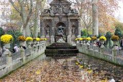 Medici喷泉,巴黎,法国 免版税库存图片