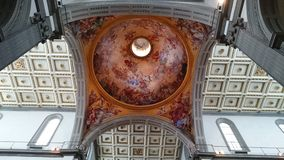 Medici chapel in Florence - ceiling and dome interior details Royalty Free Stock Photos