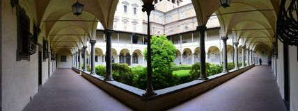 Medici chapel interior courtyard Royalty Free Stock Image