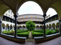 Medici chapel interior courtyard Royalty Free Stock Images