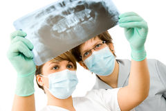 Medici con i raggi X Fotografia Stock