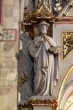 Medici della chiesa, statue sull'altare principale nella cattedrale di Zagabria Immagini Stock Libere da Diritti