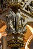 Medici della chiesa, statue sull'altare principale nella cattedrale di Zagabria Fotografia Stock