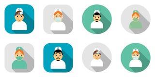 Medici delle icone di progettazione moderna Fotografia Stock