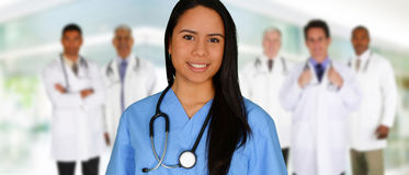 Medici ed infermiera Fotografie Stock