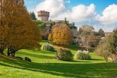Medici fästning, Volterra Arkivfoto