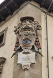 Medici family stone coat of arms in Florence Stock Photos