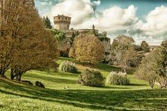 Medici fortress, Volterra HDR Stock Photo