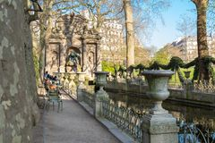 Medici Fountain in the Luxembourg Garden Jardin du Luxembourg , Paris. Medici Fountain in the Luxembourg Garden Jardin du Luxembourg, Paris, France royalty free stock images