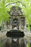 Medici Fountain Luxembourg Gardens Paris. The Medici Fountain La fontaine Medicis in Luxembourg Gardens Paris France with sculptures of the giant Polyphemus Stock Images