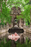The Medici Fountain in Luxembourg Gardens, Paris, France Stock Photography