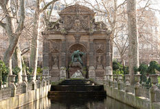 Medici Fountain in Paris France Stock Images