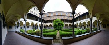 Medici kapell i Florence - inre borggård Arkivfoto