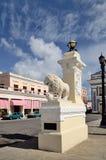 Medici lejon i Cienfuegos, Kuba arkivfoto