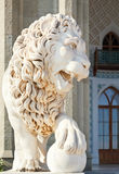 Medici lion near south facade of Vorontsov Palace Royalty Free Stock Image