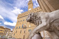 Medici lion sculpture Royalty Free Stock Photo