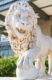 Medici lion with sphere near Vorontsov Palace Royalty Free Stock Photos