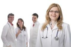 Medici sorridenti con gli stetoscopi Immagini Stock