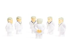 Medici su fondo bianco Fotografia Stock
