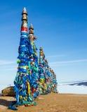 Medicijnman heilige plaats op meer Baikal Stock Afbeelding