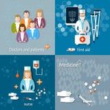 Medicin: doktorer och patienter vektor illustrationer