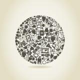 Medicin en sphere stock illustrationer