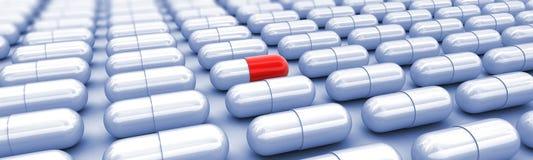 medicin för 3d Uniquel på vit stock illustrationer