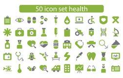 Medicin för fastställd design för symbol och hälsovektor Royaltyfri Fotografi
