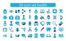 Medicin för fastställd design för symbol och hälsovektor Arkivbild