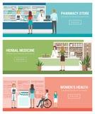 medicin för hygien för omsorgsögonsjukvård vektor illustrationer