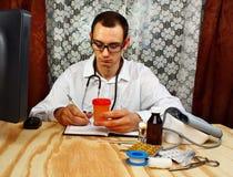 medicin för hygien för omsorgsögonsjukvård Medicinskt urinprov Arkivfoton
