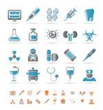 medicin för sjukvårdsjukhussymboler royaltyfri illustrationer