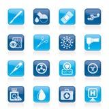 medicin för utrustningsjukhussymboler Arkivfoton