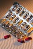 Medicin - förpacka för push-utdroger Royaltyfri Fotografi