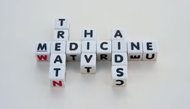 Medicin kan behandla HIV och HJÄLPMEDEL Arkivfoton