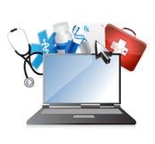 Medicin medicinskt teknologibegrepp royaltyfri illustrationer