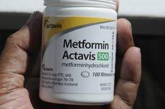 MEDICIN METFORMIN ACTAVIS Royaltyfri Foto
