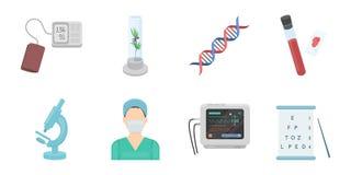 Medicin- och behandlingsymboler i uppsättningsamlingen för design vektor illustrationer