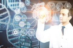 Medicin- och innovationbegrepp Arkivbild